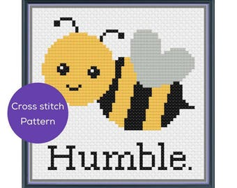 Bee Humble Cross Stitch Pattern