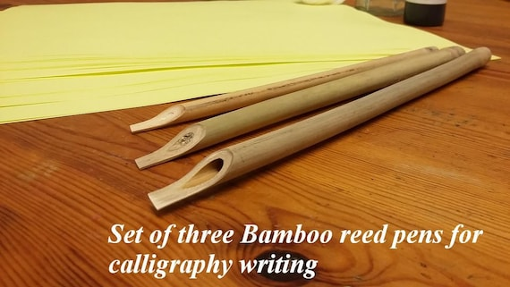Calligraphy Bamboo Reed Pens Set Of Three For By Maryamovais