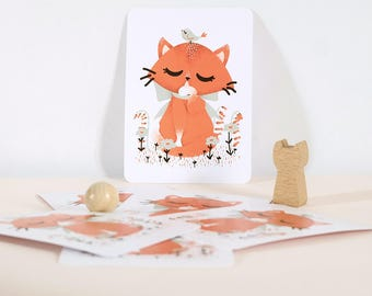 Card - Les Animignons :  the Cat