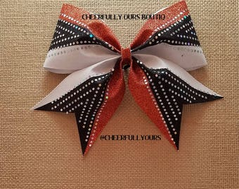 Best and Trending Customized Unique Sparkle Glitter Cheer Bows by CHEERFULLY OURS BOUTIQ