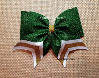 Best and Trending Customized Unique Sparkle Glitter Cheer Bow from CHEERFULLY OURS BOUTIQ