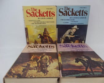 The Sacketts by Louis L'amour Lot of 4 books -1980 - Volumes 1-4