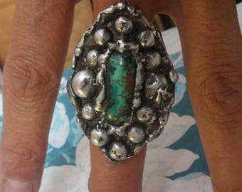 Turquoise Ring Size 5~Native American Jewelry~Country Western