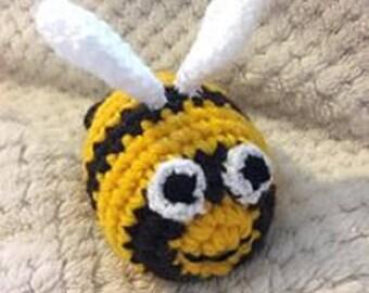 Bumble Bee Crochet Rattle Acrylic Yarn