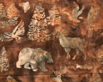 Hoffman Fabrics Montana Bears Palomino Bali Hand Dyed Batik Fabric A209-267-Palomino