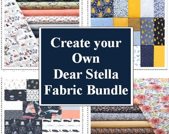 Create your own Dear Stella Fabric bundle.  Varies sizes available