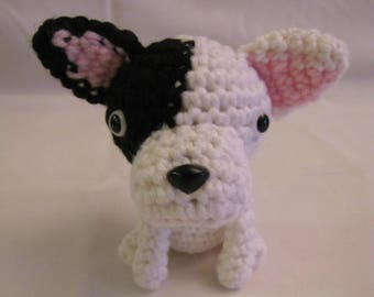 FRENCH BULLDOG - Crochet Amigurumi - Crochet Dog, Crochet Puppy
