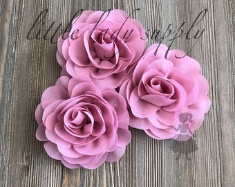 WHOLESALE 10 Dusty Pink Blossoms headband flowers bulk fabric flowers bulk  wholesale, headbands, hair clips