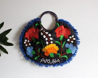 Hand embroidered Aruba bag