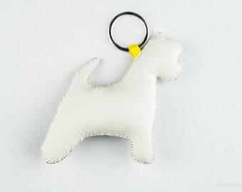 West Highland White Terriër (Westie) keychain, white coloured, dog lovers christmas gift idea, handmade