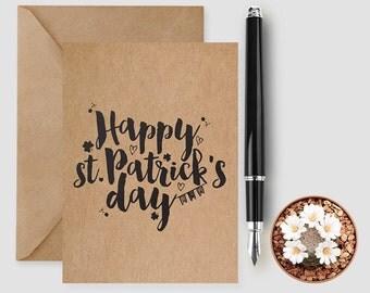 Happy St Patrick's Day Card, St Patrick's Day Card, Shamrock Card