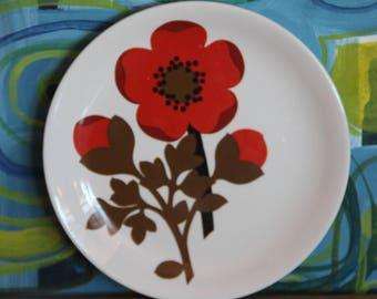 Vintage 1960's Bread plate  Alfred Meakin- Pimpernel