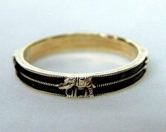 Victorian 15ct Gold Elephant Hair Ring * Antique 15ct Gold Elephant Hair Ring * Antique Elephant Hair Ring * Elephant Hair Ring