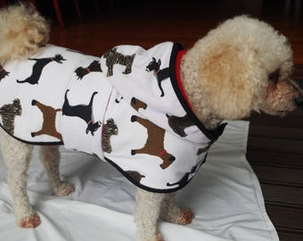 Winter Flannel Dog Hoodie - Small