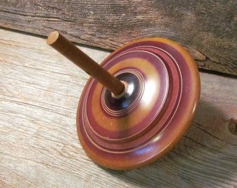 Vintage Wooden Spinning Top/Toy, Hand-Carved