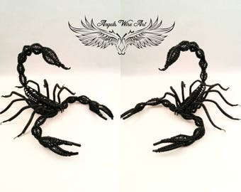 Emperor scorpion, handmade scorpion, wire scorpion, black scorpion