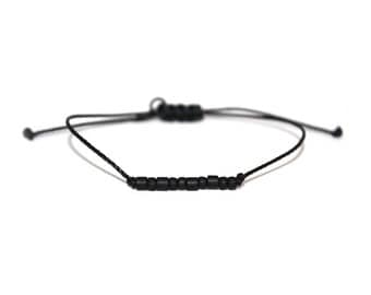 "KIND // The (Be Collection) ""Morse Code"" Nylon Cord Bracelet - Simple, Minimal, Be Kind Bracelet, Kind Morse Code Bracelet"