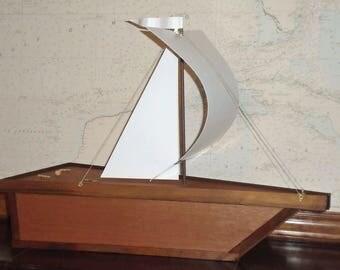 Urns for human ashes, Water Burial Urn, Ocean & Nautical Urn, Biodegradable Urn, Sail Ship Urn, Sailboat Urn, Eco-friendly Urn, Sailboat Urn