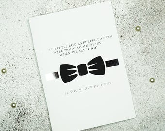 Silver Foil Will You Be My Page Boy Card