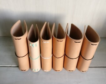 Spring Cleaning! Undyed Small Leather journal covers