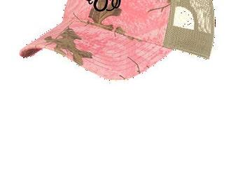 Pink or Black Camouflage Mesh Back Cap
