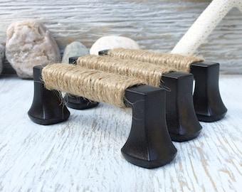 Rope Drawer Pull Nautical Decor Beach Decor Nautical Drawer Pull Beach Drawer Pull Beach Bathroom Beach Kitchen Coastal Decor Shabby Chic 3
