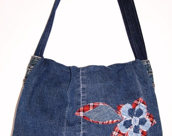 My Sweet Karma denim messenger bag purse gift Christmas