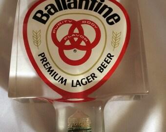 Acrylic Ballantine Beer Tap NOS