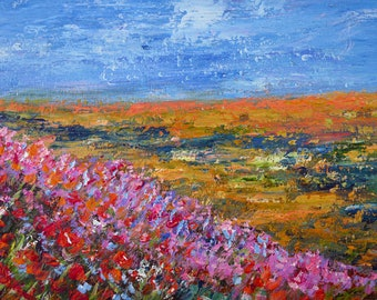 Fine Art, Abstract Landscape, Wall Art, Fine Art, Gilcee Canvas PRINT, living room art, modern painting, wildflower field