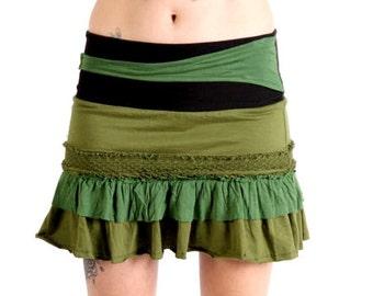 Festival Funky Clothing, Pixie Skirt. Gypsy Skirt,Psy Trance Clothing,Boho Skirt,Hippie,Burning Man.Gift For Her,Christmas Gifts,Mini Skirt