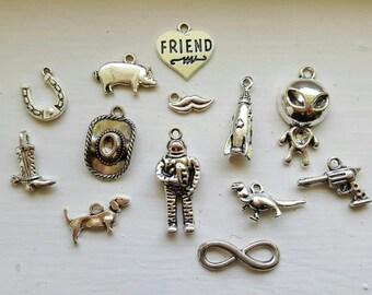 Toy Story Charm Set 13 Piece Tibetan Style Antique Silver