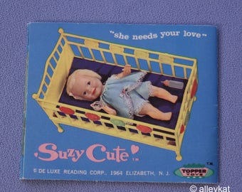 Vintage Topper Toys Suzy Cute Doll Fashion Booklet, Near Mint