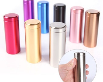 10 pcs Mini Tea Leaf Tins, Coffee beans Tins, Candy Tins - Long Tall Titanium Can Containers - Party Wedding Favors