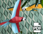 Parrot - DIY Papercraft Kit (Instant Download)