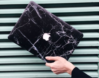 MacBook BLACK MARBLE CASE, MacBook 12 case, Macbook Pro 15 case, Macbook Air 13 case, Macbook pro 13 Retina case, Macbook pro case, MacBook