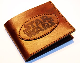 Star Wars Wallet, Handmade Wallet, Leather Wallet, Star Wars, Credit Card Wallet,Great Gift!