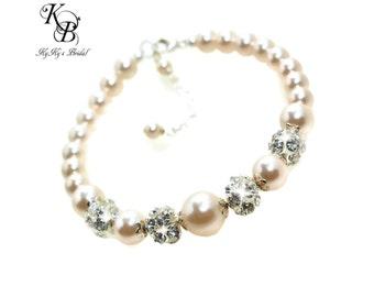 Bridal Bracelet Swarovski Bridal Jewelry Pearl Bridal Bracelet Bride Jewelry Wedding Jewelry Wedding Bracelet Bride Bracelet Pearl Jewelry