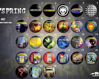 Collection plates The Offspring / / The Offspring button collection