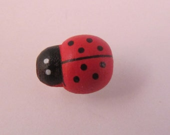 Small Red Lady Bug Lapel Pin Everyday / Wedding / Prom