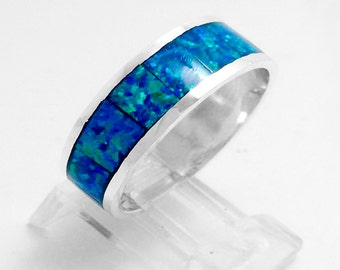 Solid Sterling Silver .925 Opal Ring