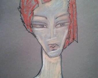 Original Portrait Illustration Abstrakt