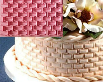 Basketweave Stamp, Basket-weave Embosser, Brick Stamp, Wall Embosser, Diamond Impression Fondant, Rhombus Stamp, Rhombus Embosser