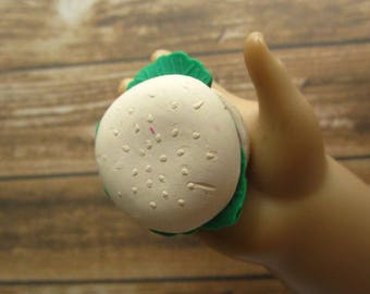 1 Hamburger for American Girl Dolls / Play Food / 18 Inch Doll Food / Play Food For 18 Inch Dolls / Play Food For American Girl Dolls