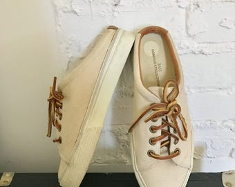 Bass Slip on Womens Canvas Lace up Mules 7