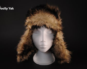 The Woolly Yak 'Top Yak' - warm winter fur for your head