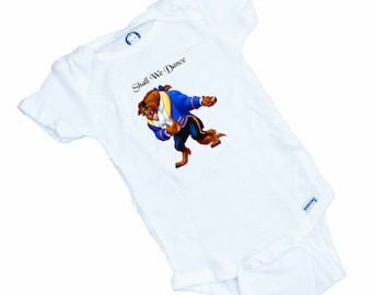 "The BEAST "" Shall we dance""  Funny baby onesie or Tee Shirt"