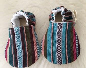 Aztec Baby Shoe, Baby Girl Moccasins , Baby Girl Shoes, Pink Baby Shoes, Pink Booties, Baby Moccasins, Baby Shoes, Baby Bootie