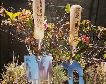 Personalised Wood Handle Garden Tool Set