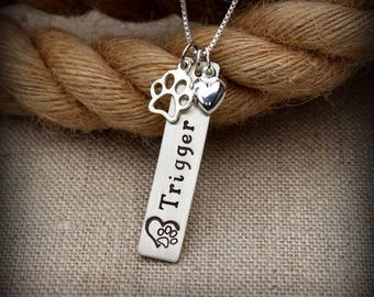 Pet owner necklace, Dog or Cat necklace, Dog mama, Cat mama
