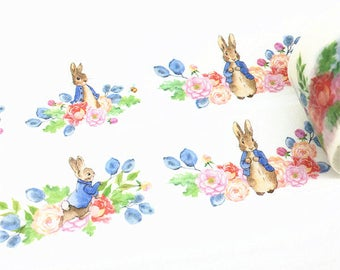 Rabbit Washi Tape, Flowers Washi Tape